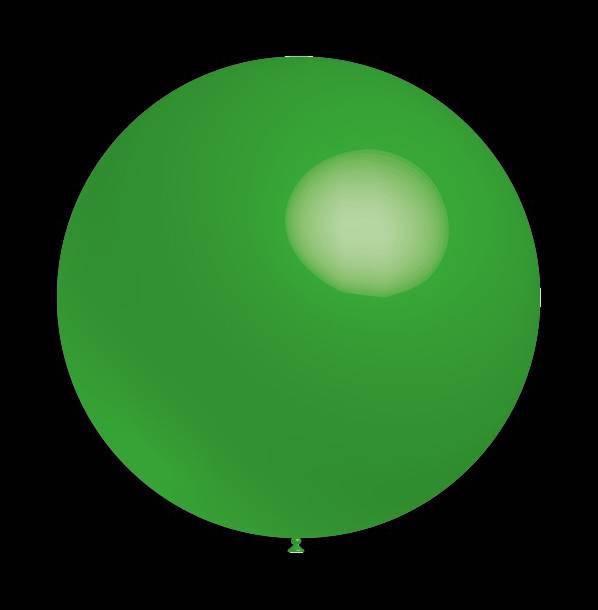 Decoratieballonnen groene 30 cm