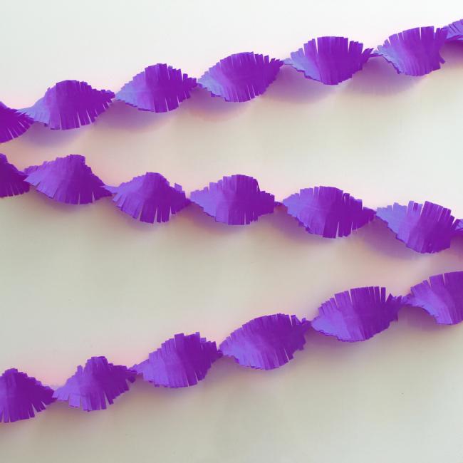 Crepe Garland 6m - violet