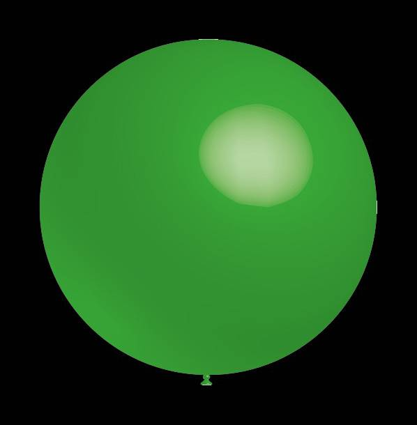 5 stuks led verlichte Decoratieballonnen groene 30 cm met losse LED-lampjes