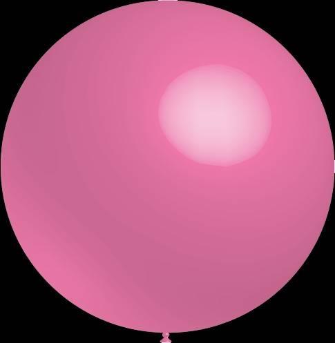Mega grote ronde festivalballonnen roze 130 cm professionele kwaliteit