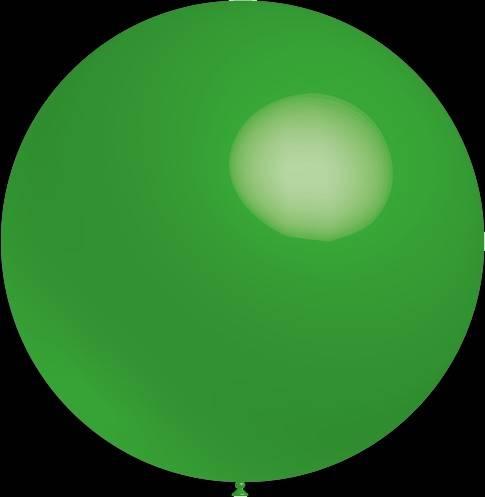 Mega grote ronde festivalballonnen groen 130 cm professionele kwaliteit