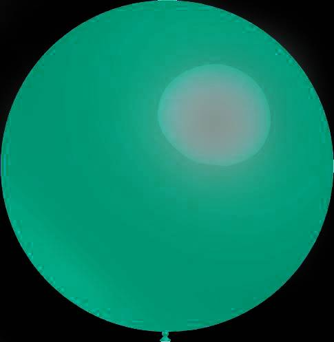 Mega grote ronde festivalballonnen turquoise 90 cm professionele kwaliteit