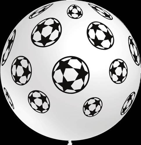 Mega grote ronde festivalballonnen met voetbal print 90 cm professionele kwaliteit