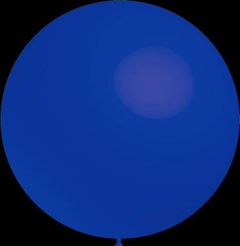 3 stuks Mega grote donker blauwe ballonnen 90 cm