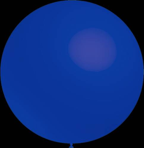 Mega grote donker blauwe ballonnen 90 cm