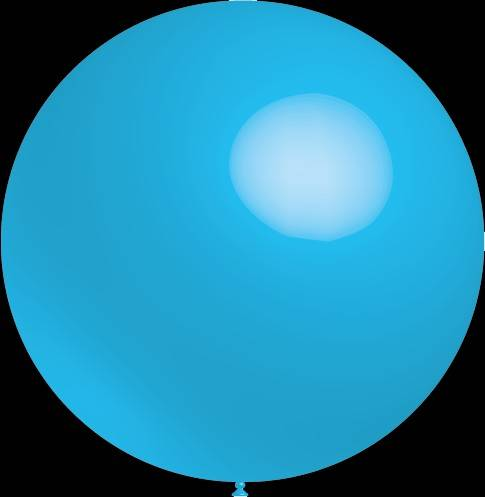 Mega grote baby blauwe ballonnen 90 cm