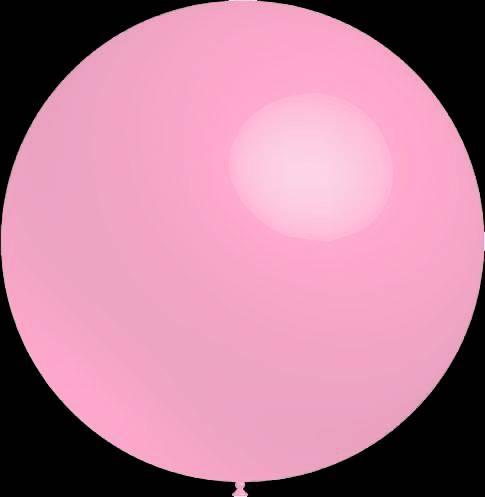Mega grote baby roze ballonnen 90 cm