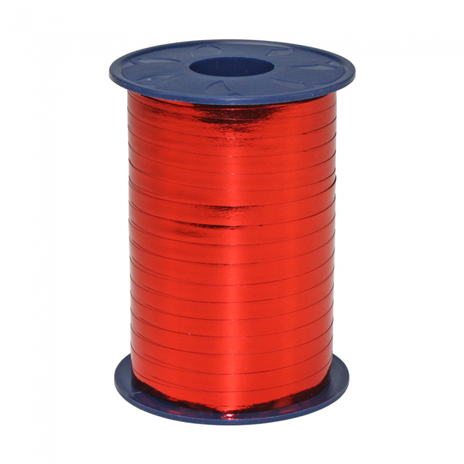 Ribbon 250m x 5mm Rood metallic