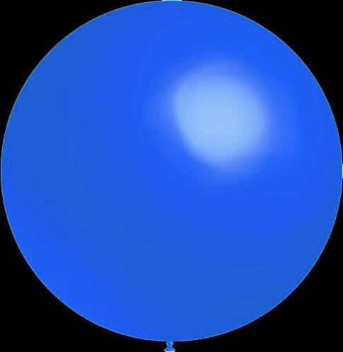 3 stuks Mega grote ronde festivalballonnen blauw 90 cm professionele kwaliteit