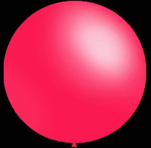 Mega grote ronde festivalballonnen fuchsia 90 cm professionele kwaliteit