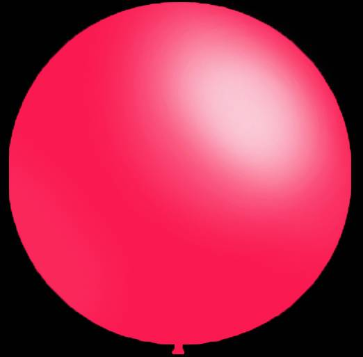 3 stuks Mega grote ronde festivalballonnen fuchsia 90 cm professionele kwaliteit