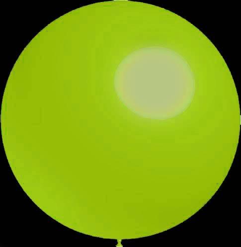 3 stuks Mega grote ronde festivalballonnen lime green 90 cm professionele kwaliteit