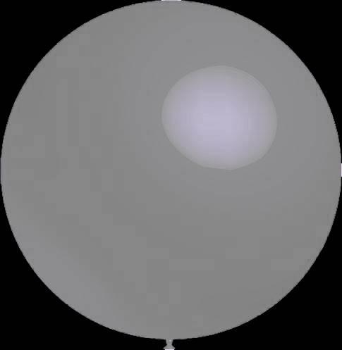 3 stuks Mega grote ronde festivalballonnen grey 90 cm professionele kwaliteit