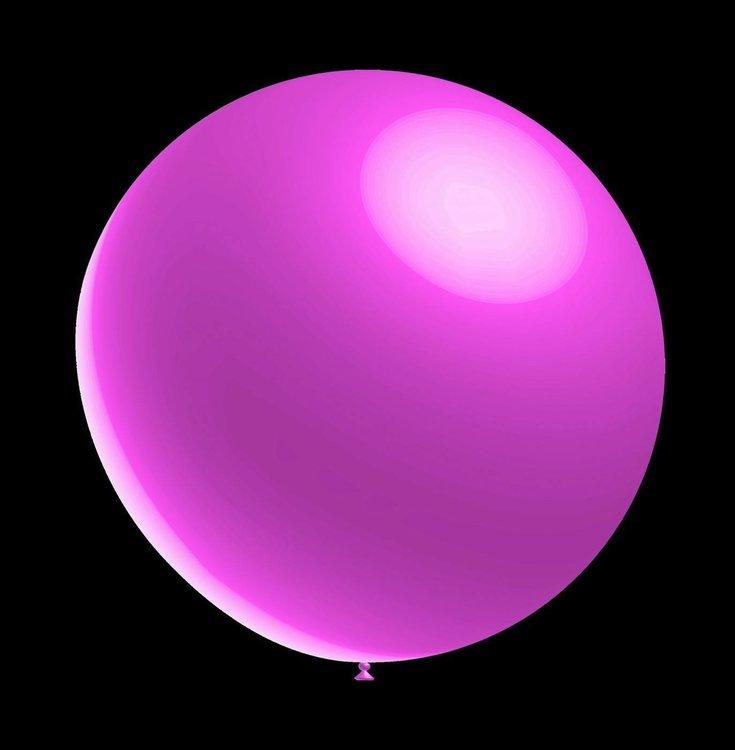 5 stuks ledverlichte Decoratie ballon metallic roze 28 cm professionele kwaliteit met losse LED-lampjes