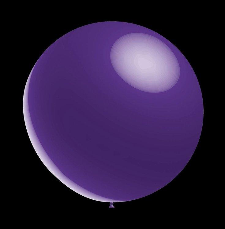 100 stuks - Decoratie ballon paars metallic ballon 28 cm hoge kwaliteit