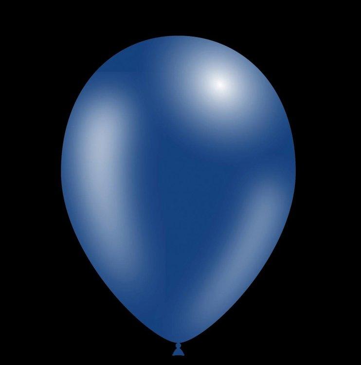 100 stuks - Feestballon ballonnen - 26cm - Metallic navy blue professionele kwaliteit