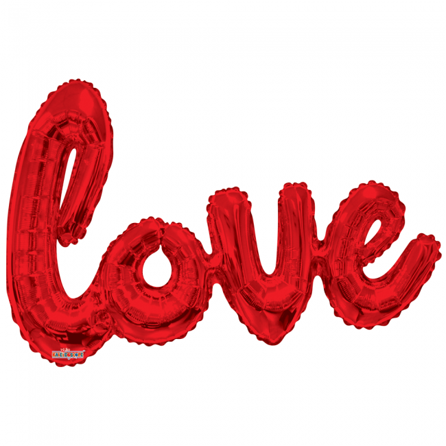 Folie ballon xl rood 91,4 cm love
