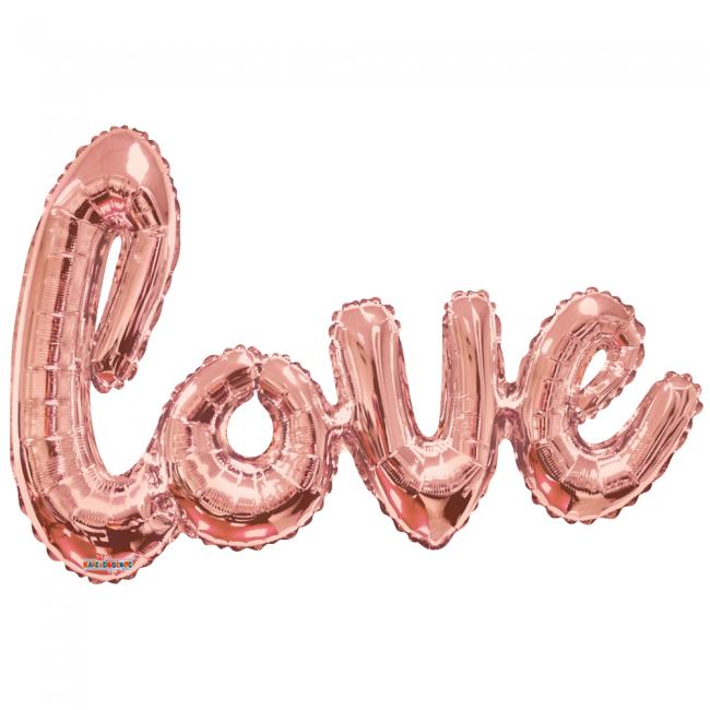 Folie ballon xl roze 91,4 cm love