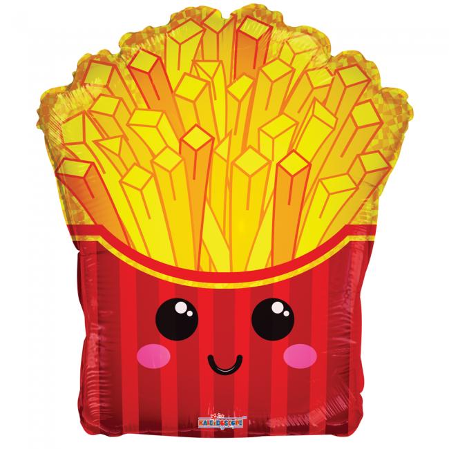 Folie ballon bakje met friet 46 cm groot