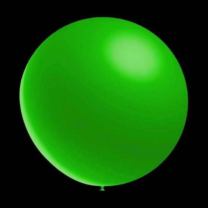 Decoratieve ballonnen - 30 cm - metallic groen professionele kwaliteit