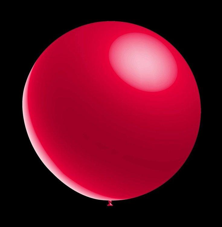 5 stuks led verlichte Decoratieve ballonnen - 28 cm - metallic red professionele kwaliteit
