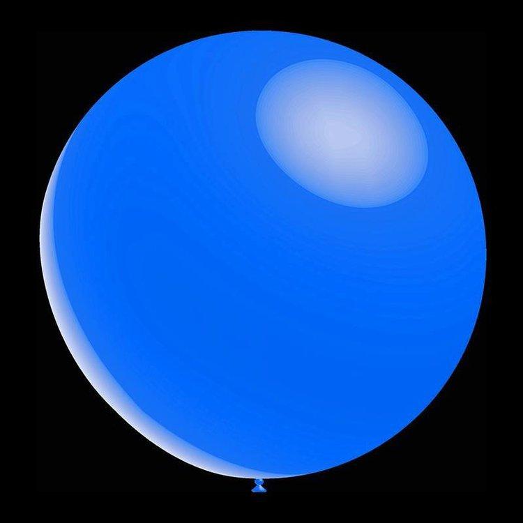 5 stuks led verlichte Decoratieve ballonnen - 30 cm - metallic blue professionele kwaliteit