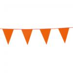 Vlaggen slinger 10 meter lang met oranje vlaggen (20x30 cm) leuk voor helloween