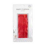 Partygordijn rood.  100cm x 240 cm. Vlamvertragend._