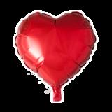 Folieballon hartvormig rood per 3 stuks_