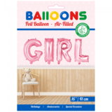 Folie ballon baby girl in letters