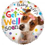 Folie ballon get well soon rond 46 cm