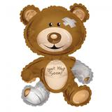 Folie ballon Get Well Soon! in de vorm van een beer 91,4 cm groot