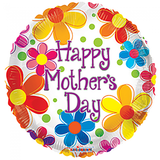 Folie ballon Happy Mother's Day ! 46 cm doorsnee