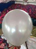 Zilveren parelmoer metallic ballon 30 cm hoge kwaliteit_