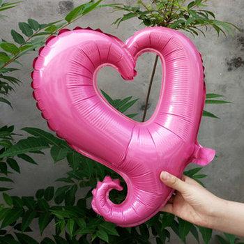 45 cm roze open hartvormige folie ballon van hoge kwaliteit