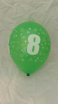 10 stuks latex ballonnen cijfer 8 gemengde kleuren 30 cm hoge kwaliteit