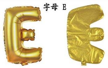 ballon - 40 cm - goud - letter - E