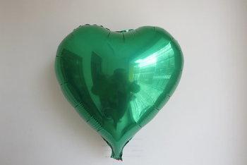45 cm groene hartvormige folie ballon van hoge kwaliteit