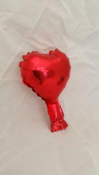 10 stuks zelfsluitende folie hartballonnetjes 10 cm rood