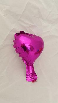 10 stuks zelfsluitende folie hartballonnetjes 10 cm lichter paars