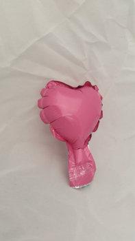 10 stuks zelfsluitende folie hartballonnetjes 7 cm roze
