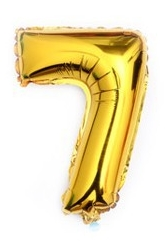 ballon - 40 cm - goud - cijferballon - cijfer 7