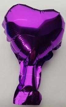 10 stuks zelfsluitende folie hartballonnetjes 10 cm lila