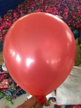 25 stuks Rode parelmoer metallic ballon 30 cm hoge kwaliteit