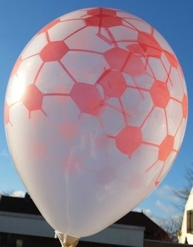 10 stuks transparante ballon met rode tekening 30 cm hoge kwaliteit