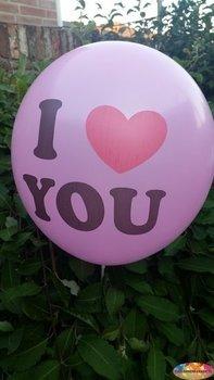 10 stuks Roze ballon i love you 30 cm hoge kwaliteit
