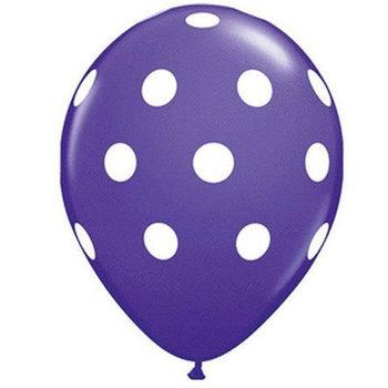 10 stuks Donkerblauw-ballon met witte stippen 30 cm hoge kwaliteit