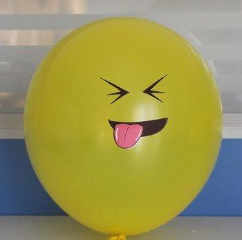 10 stuks ballon smiley  30 cm geel iets vies vinden