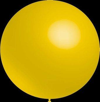 Mega grote ronde festivalballonnen geel 130 cm professionele kwaliteit