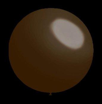 Decoratieballonnen donker bruin 28 cm professionele kwaliteit 25 stuks...